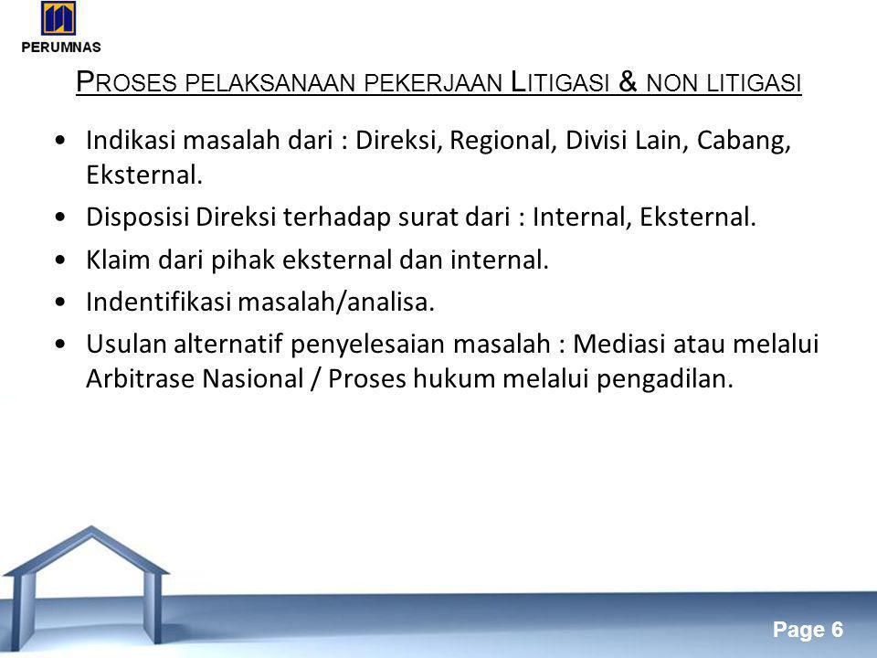 Proses pelaksanaan pekerjaan Litigasi & non litigasi