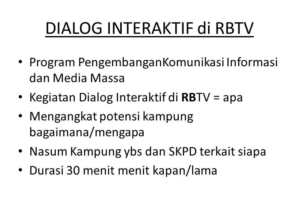 DIALOG INTERAKTIF di RBTV