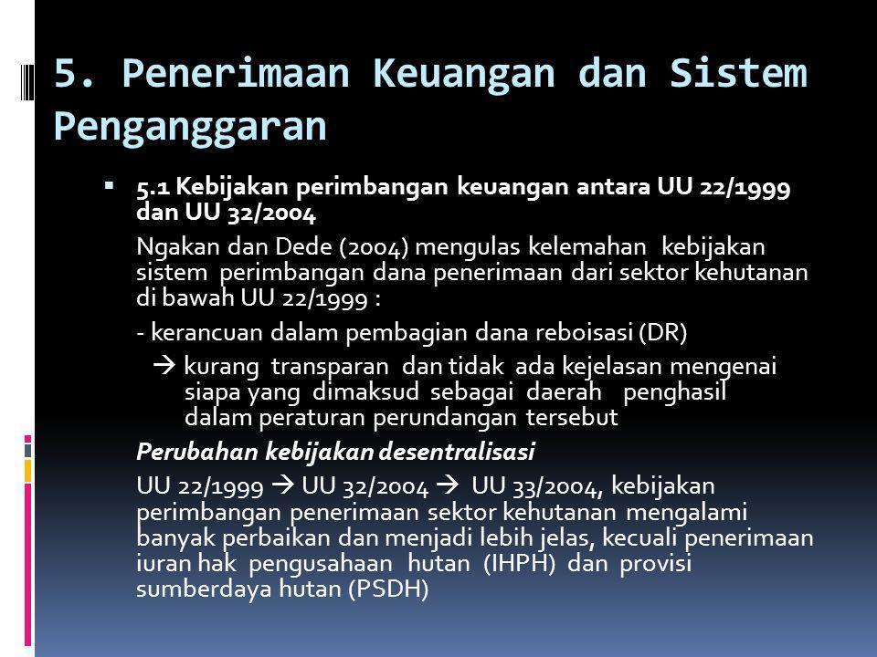 5. Penerimaan Keuangan dan Sistem Penganggaran