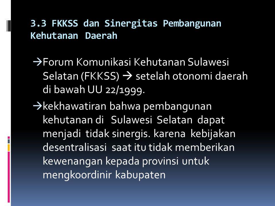 3.3 FKKSS dan Sinergitas Pembangunan Kehutanan Daerah