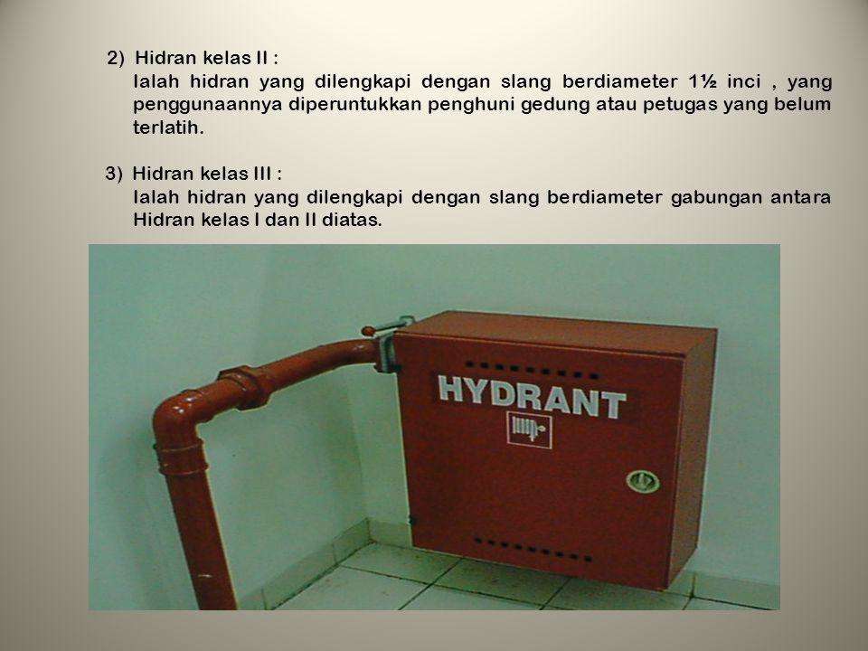 2) Hidran kelas II :