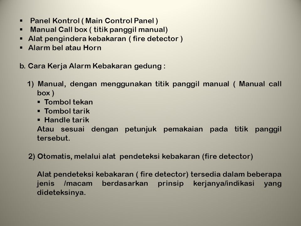 Panel Kontrol ( Main Control Panel )
