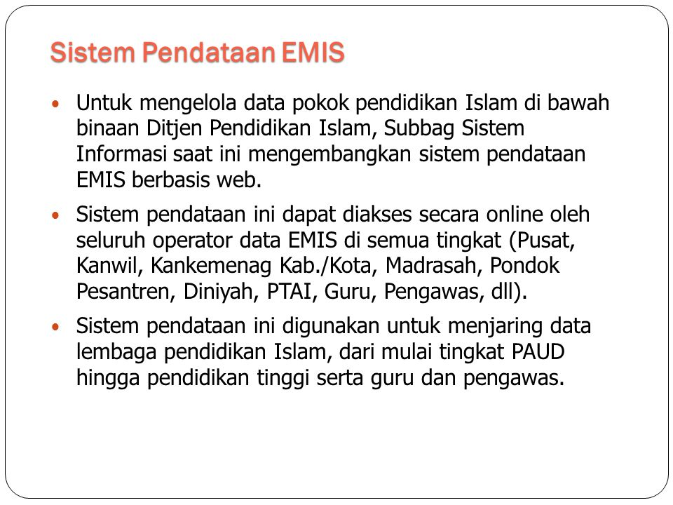 Sistem Pendataan EMIS