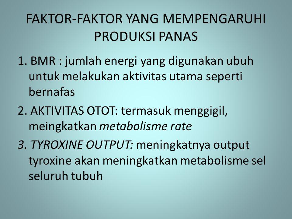 FAKTOR-FAKTOR YANG MEMPENGARUHI PRODUKSI PANAS