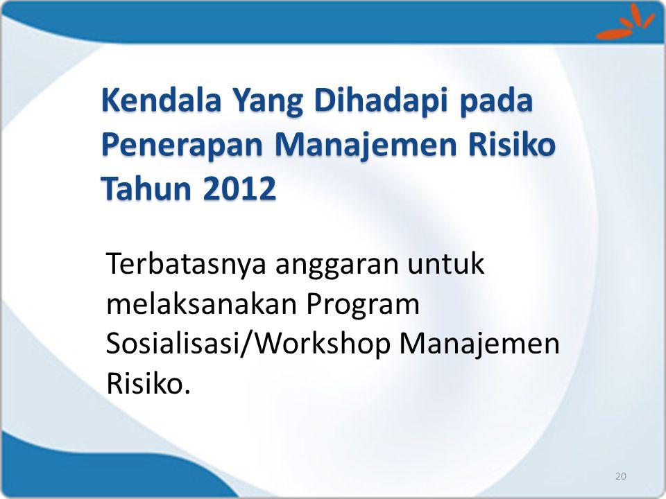 Kendala Yang Dihadapi pada Penerapan Manajemen Risiko Tahun 2012