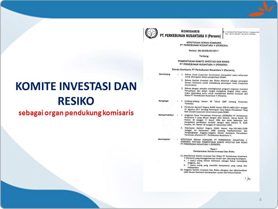 KOMITE INVESTASI DAN RESIKO sebagai organ pendukung komisaris