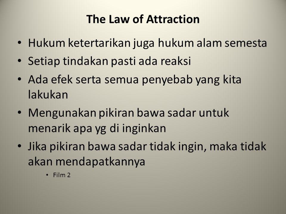 Hukum ketertarikan juga hukum alam semesta