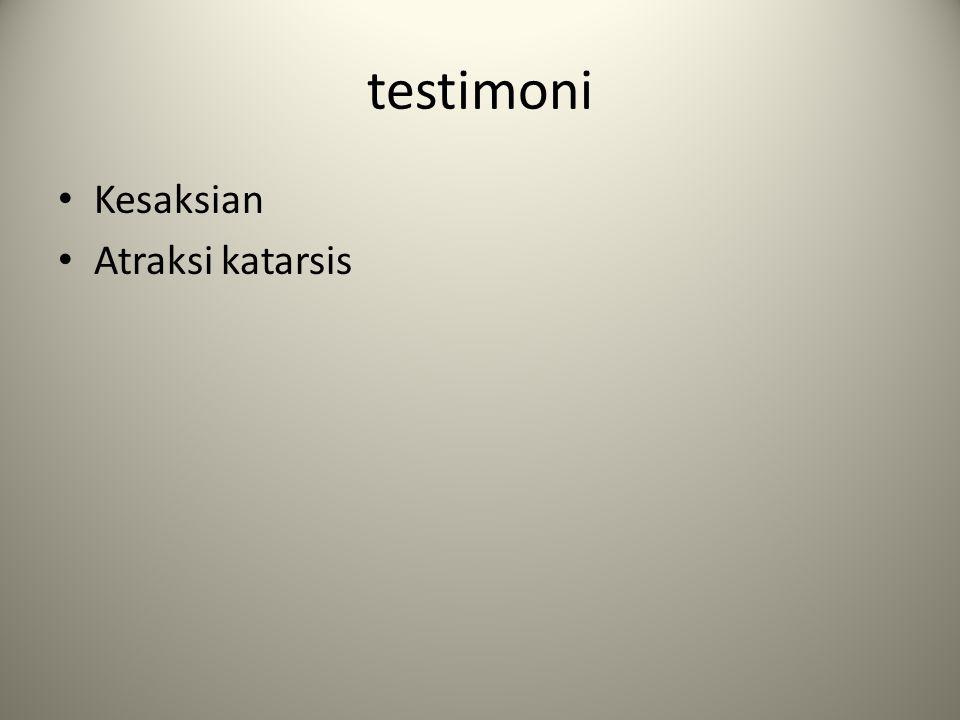 testimoni Kesaksian Atraksi katarsis