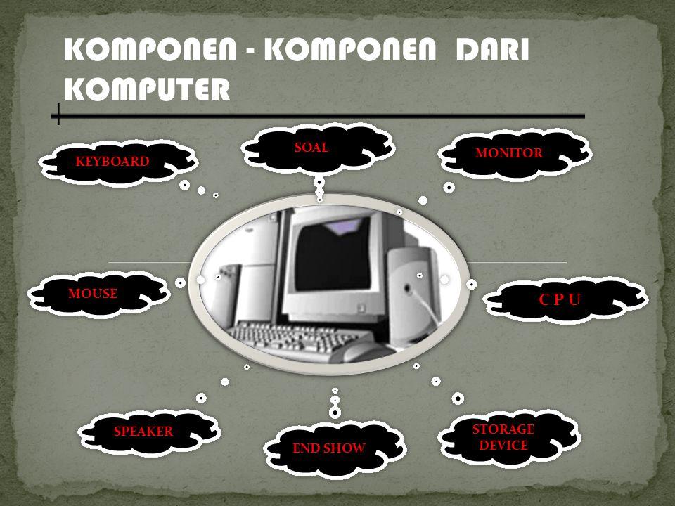 KOMPONEN - KOMPONEN DARI KOMPUTER