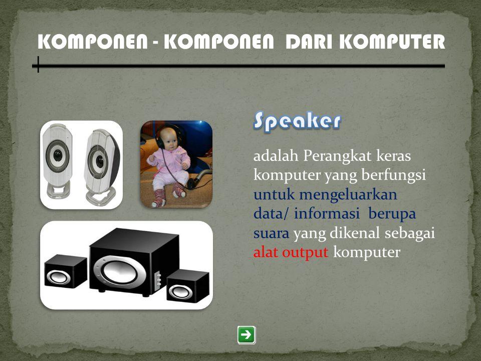 Speaker KOMPONEN - KOMPONEN DARI KOMPUTER