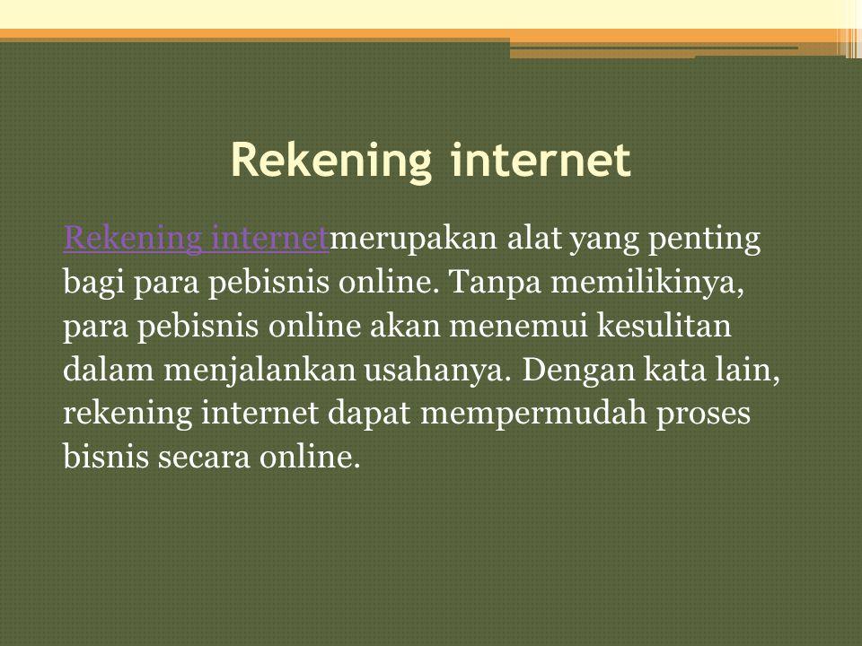 Rekening internet