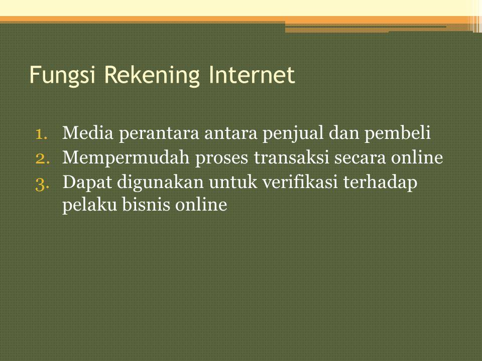 Fungsi Rekening Internet