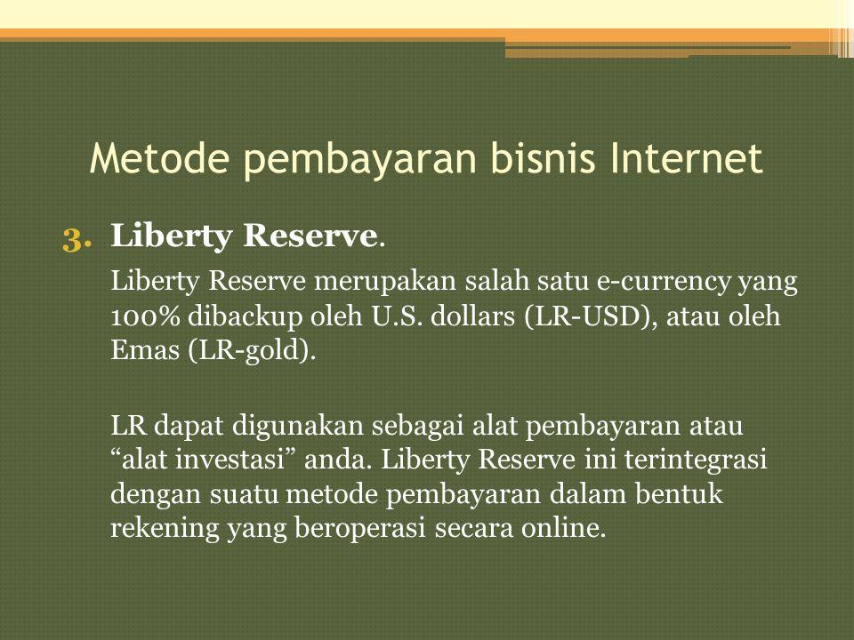 Metode pembayaran bisnis Internet