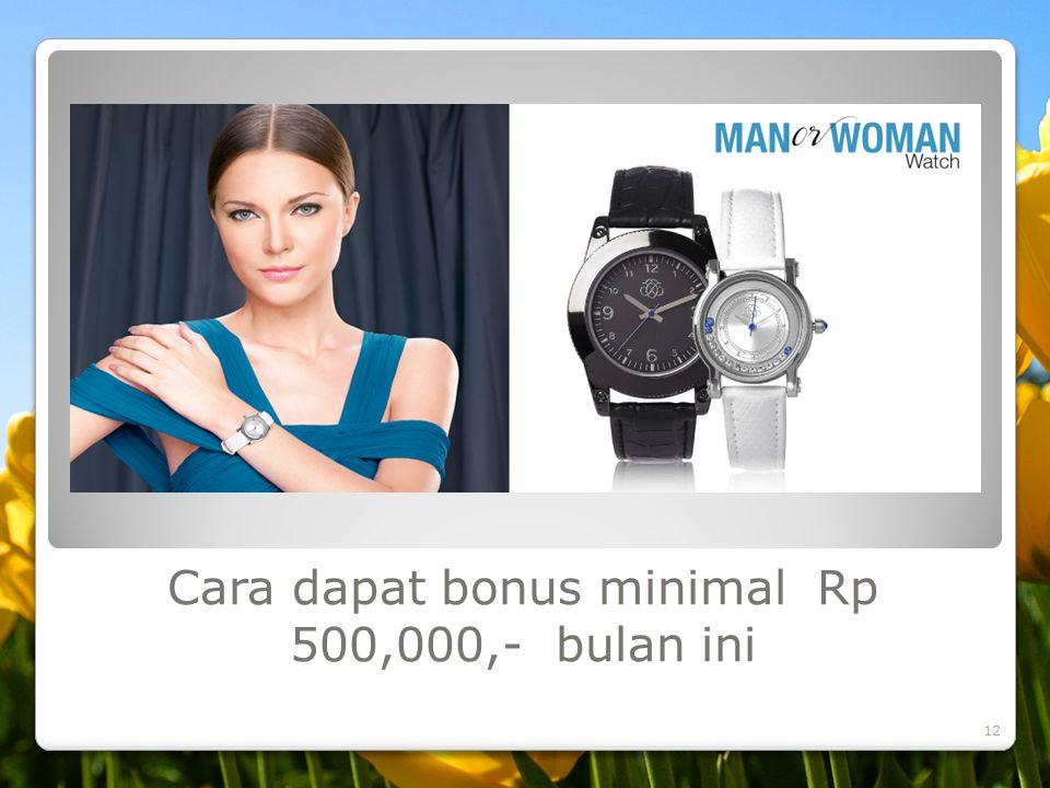 Cara dapat bonus minimal Rp 500,000,- bulan ini