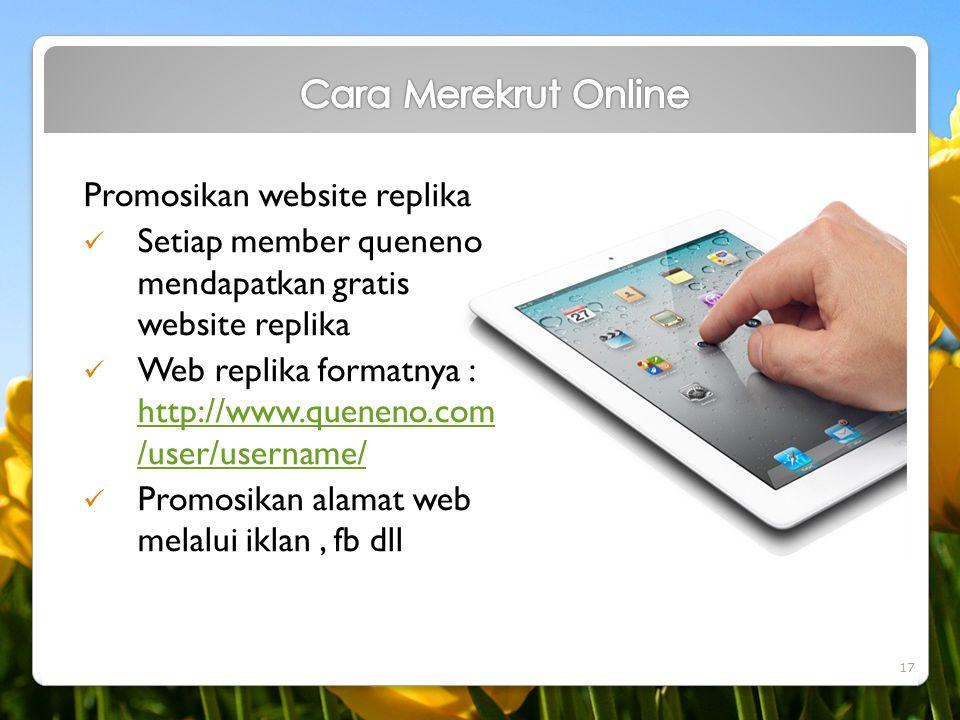 Cara Merekrut Online Promosikan website replika