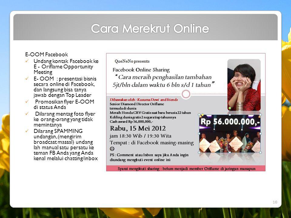 Cara Merekrut Online E-OOM Facebook