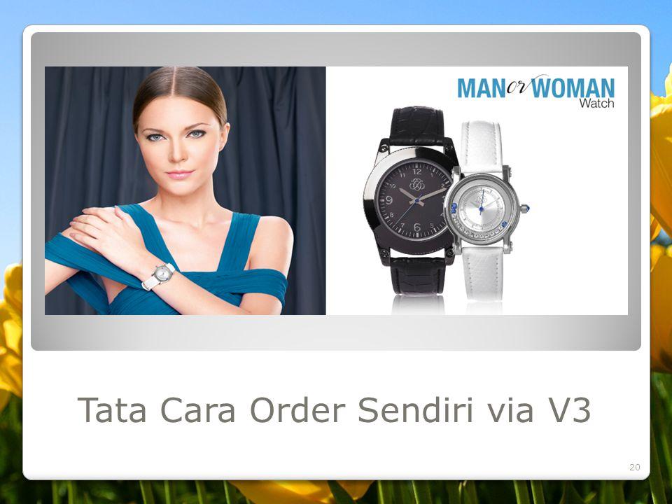 Tata Cara Order Sendiri via V3