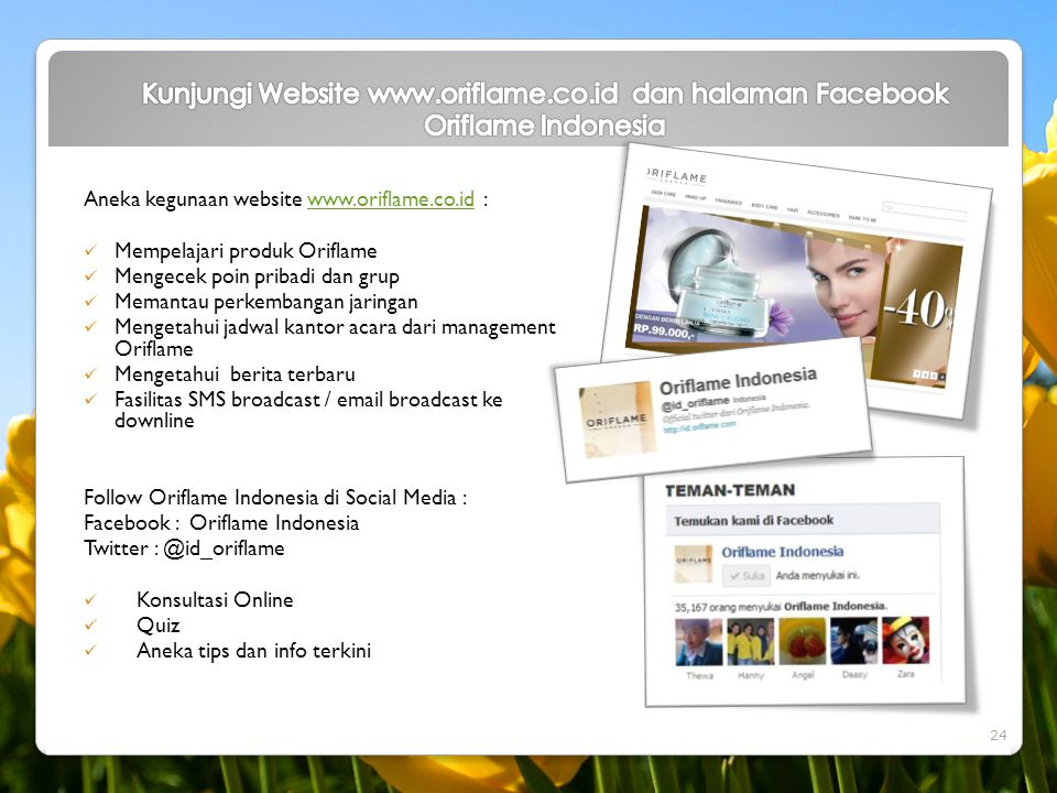 Kunjungi Website www. oriflame. co