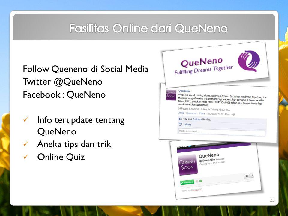 Fasilitas Online dari QueNeno