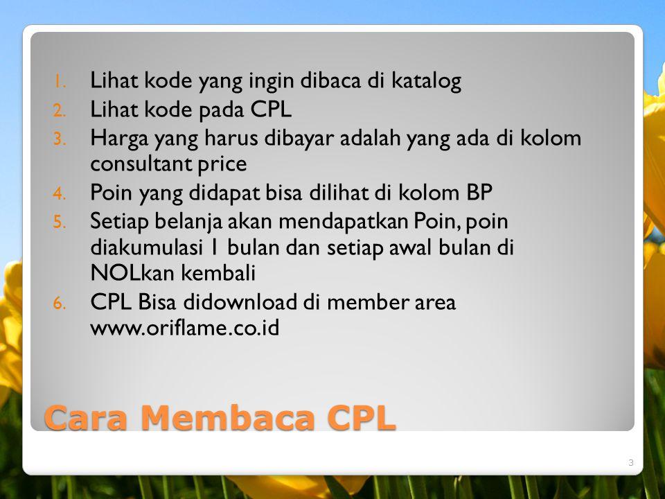 Cara Membaca CPL Lihat kode yang ingin dibaca di katalog