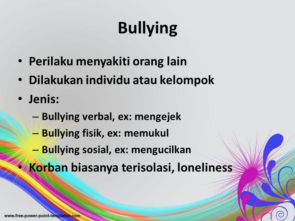 Bullying Perilaku menyakiti orang lain
