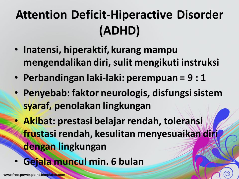 Attention Deficit-Hiperactive Disorder (ADHD)