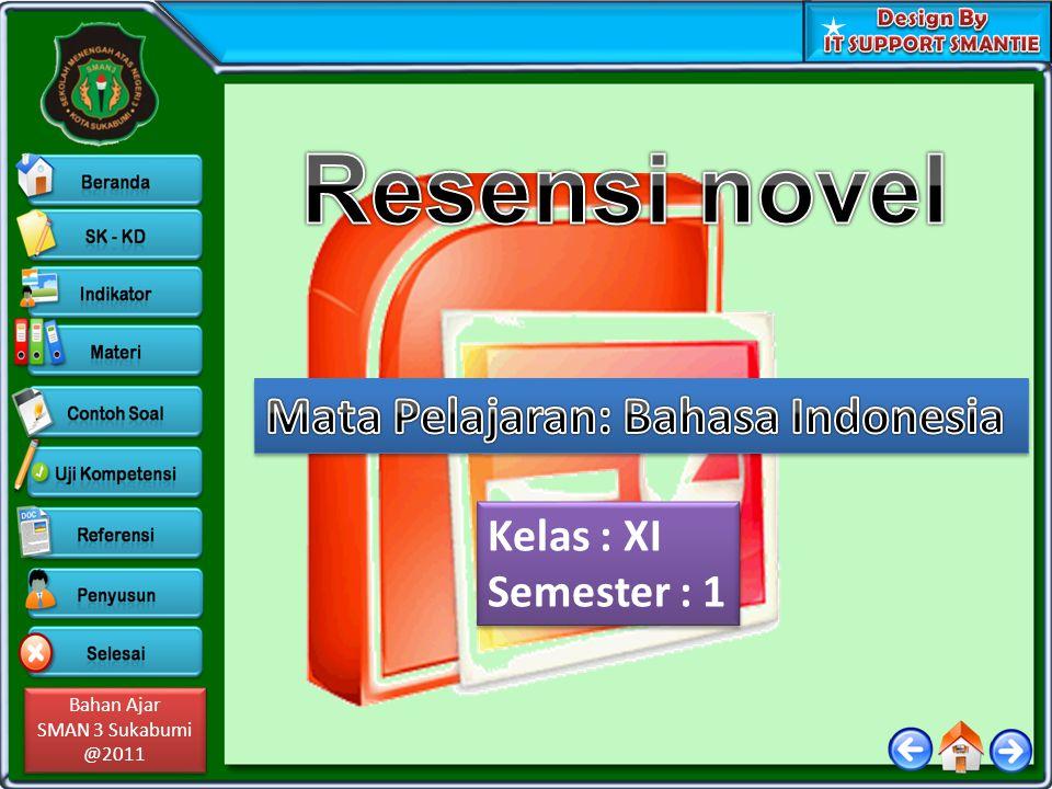 Resensi novel Mata Pelajaran: Bahasa Indonesia Kelas : XI Semester : 1