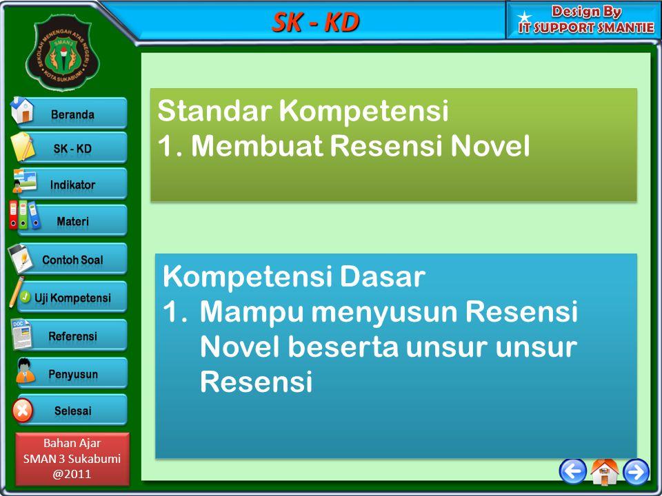 SK - KD Standar Kompetensi. 1. Membuat Resensi Novel.