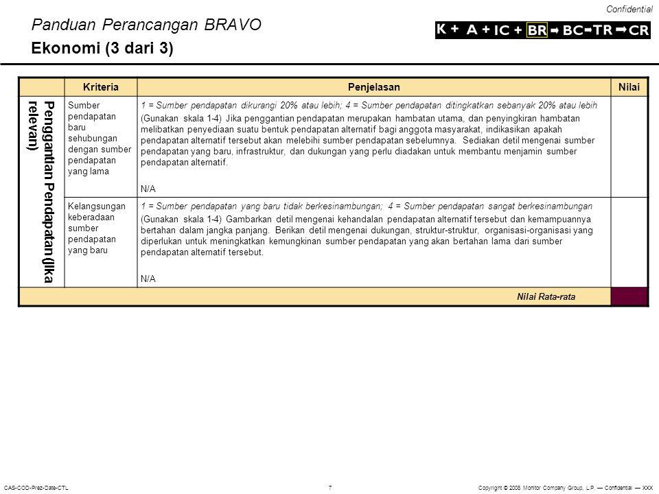 Panduan Perancangan BRAVO Ekonomi (3 dari 3)
