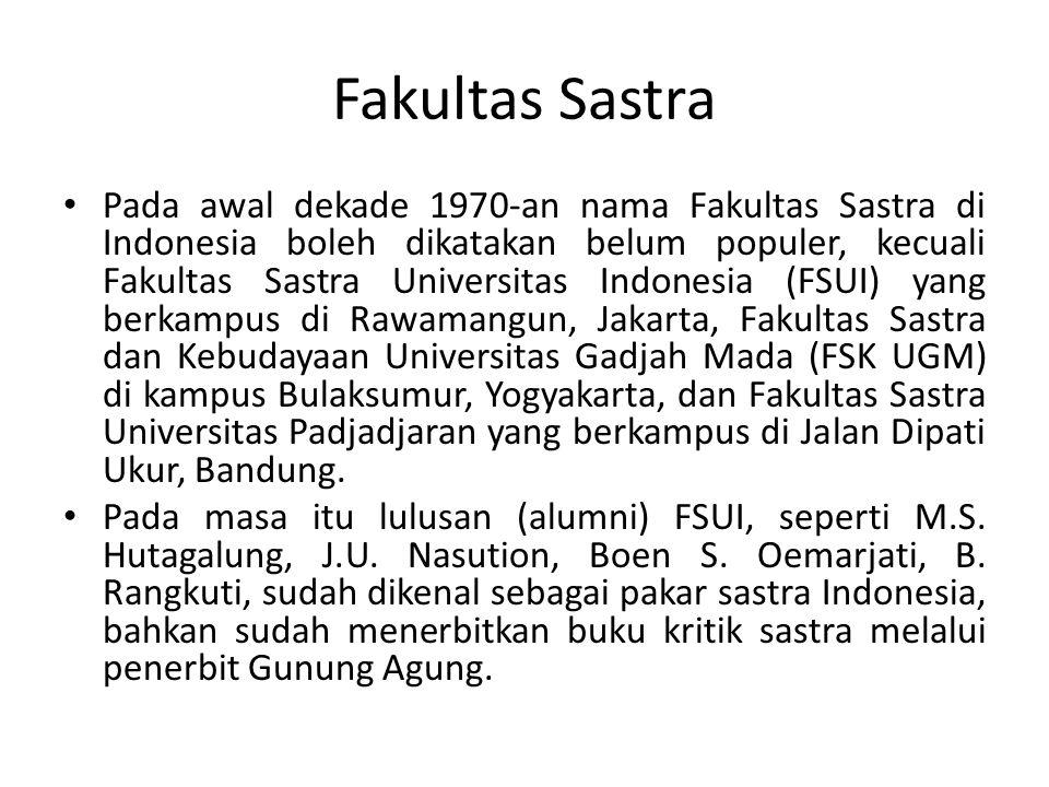 Fakultas Sastra