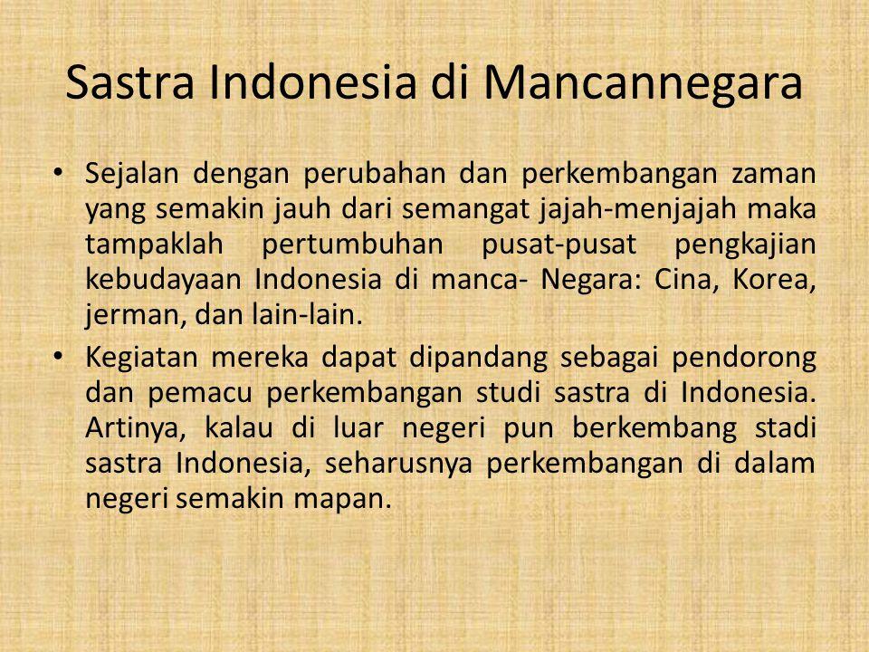 Sastra Indonesia di Mancannegara