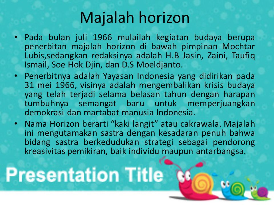 Majalah horizon
