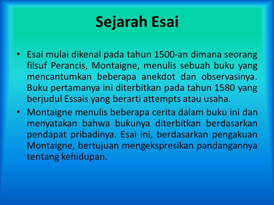 Sejarah Esai