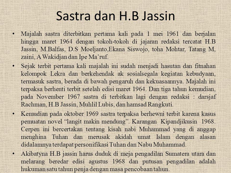 Sastra dan H.B Jassin