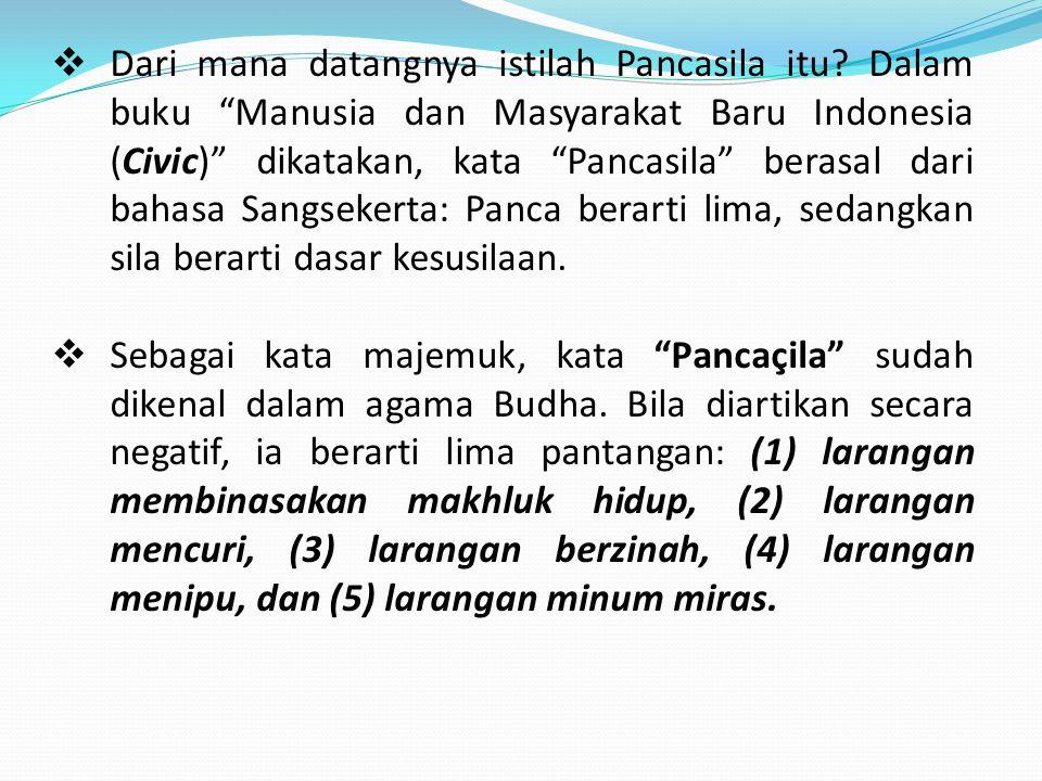 Dari mana datangnya istilah Pancasila itu