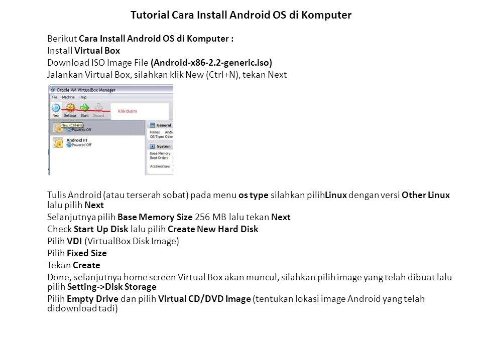 Tutorial Cara Install Android OS di Komputer