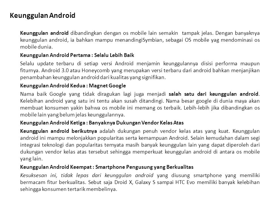 Keunggulan Android