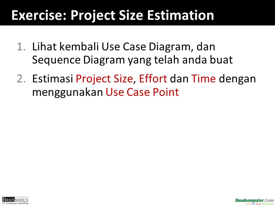 Exercise: Project Size Estimation