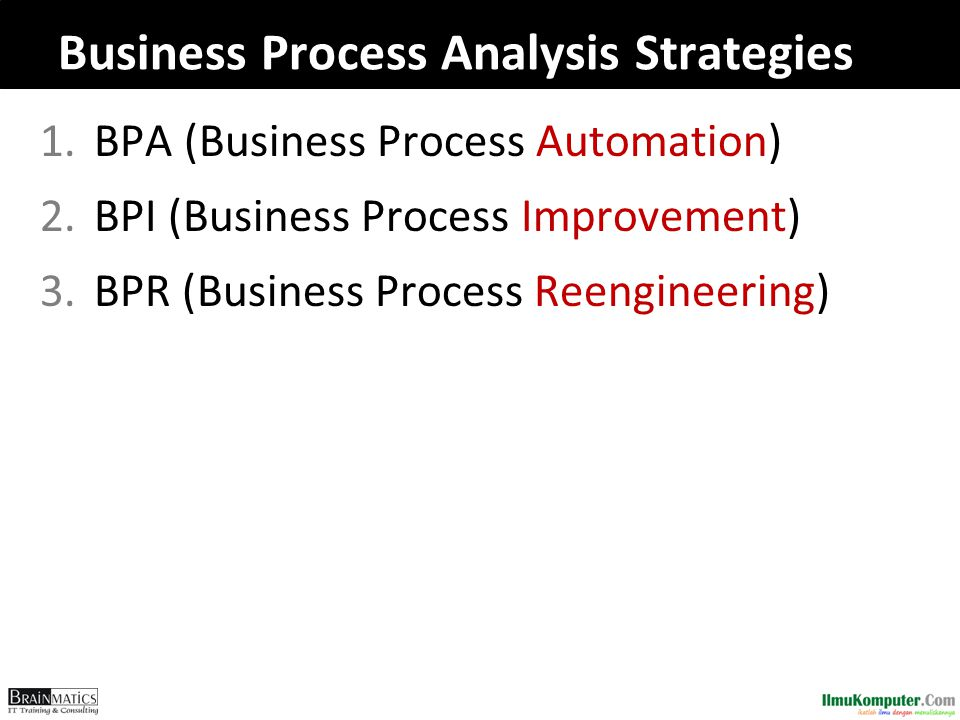 Business Process Analysis Strategies