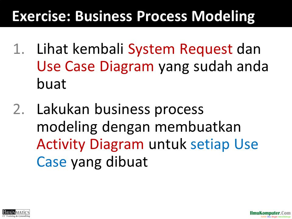 Exercise: Business Process Modeling