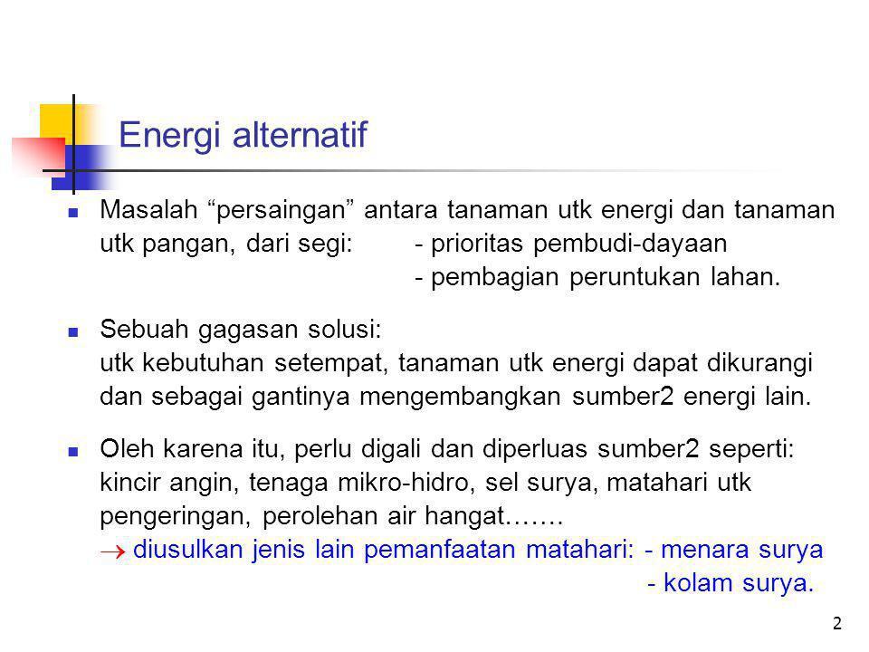 Energi alternatif dum.
