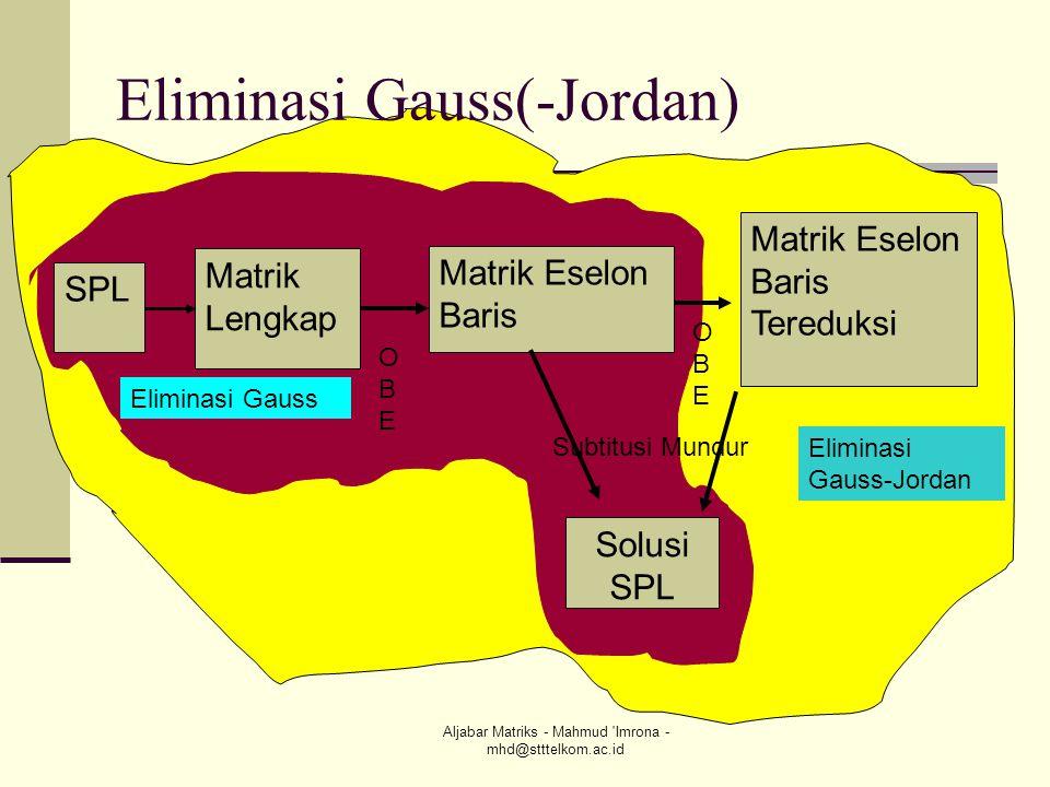 Eliminasi Gauss(-Jordan)