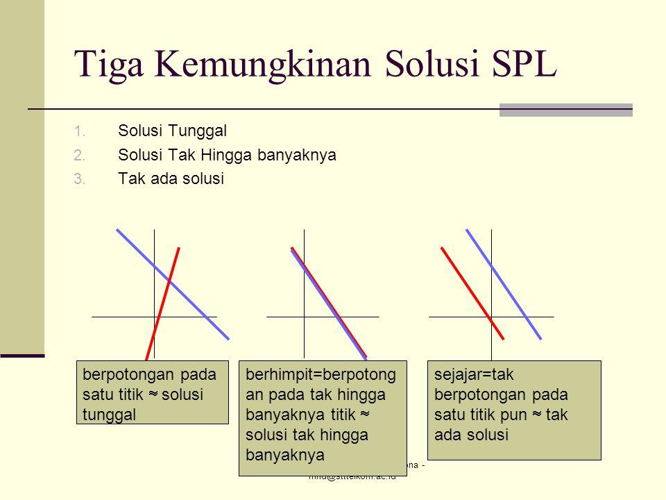 Tiga Kemungkinan Solusi SPL