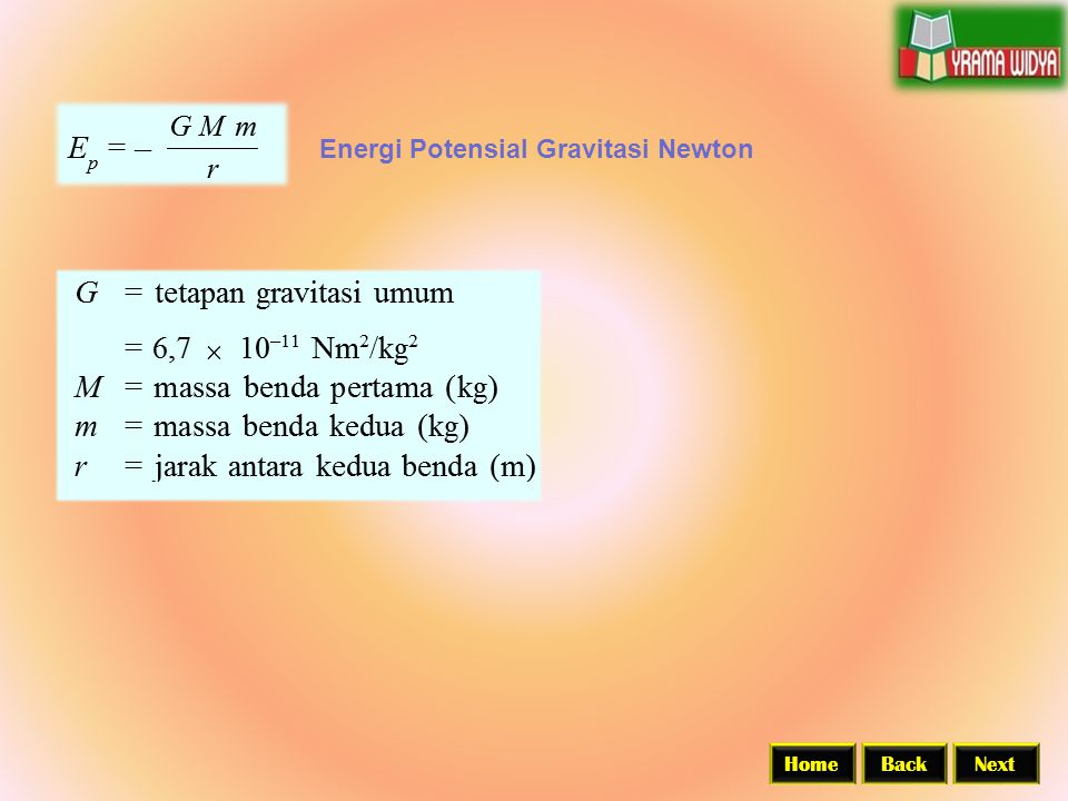 Energi Potensial Gravitasi Newton