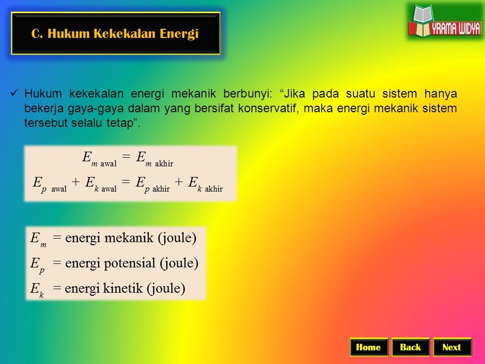 C. Hukum Kekekalan Energi