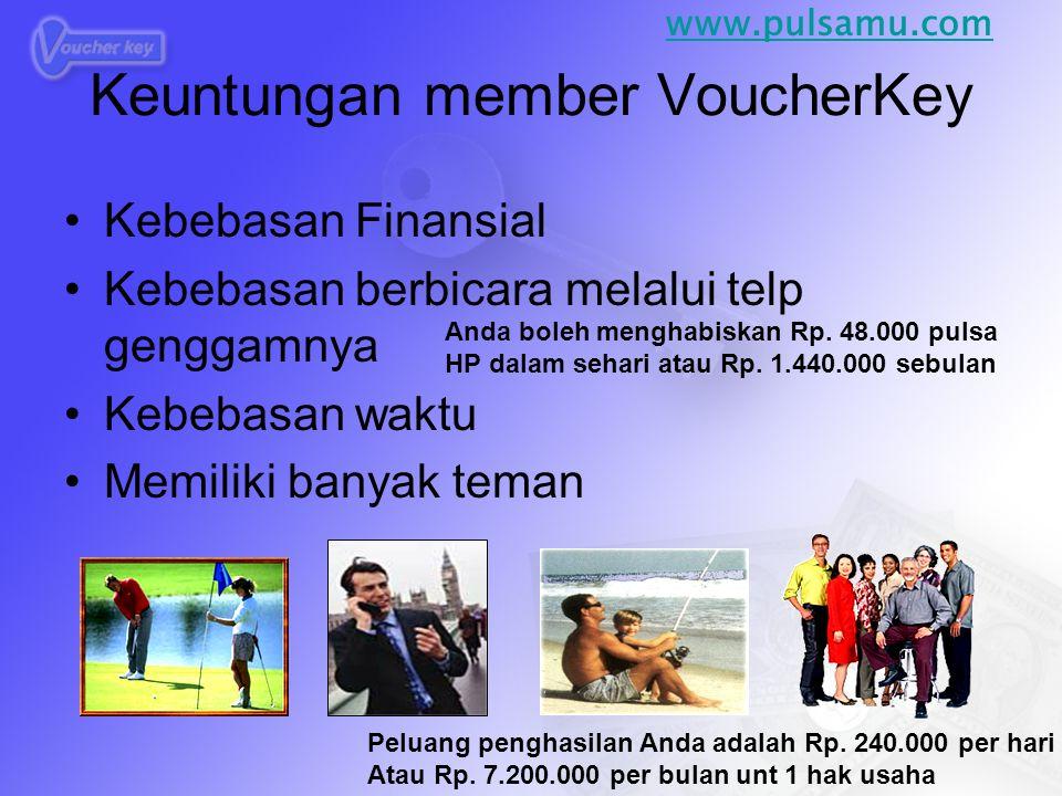Keuntungan member VoucherKey