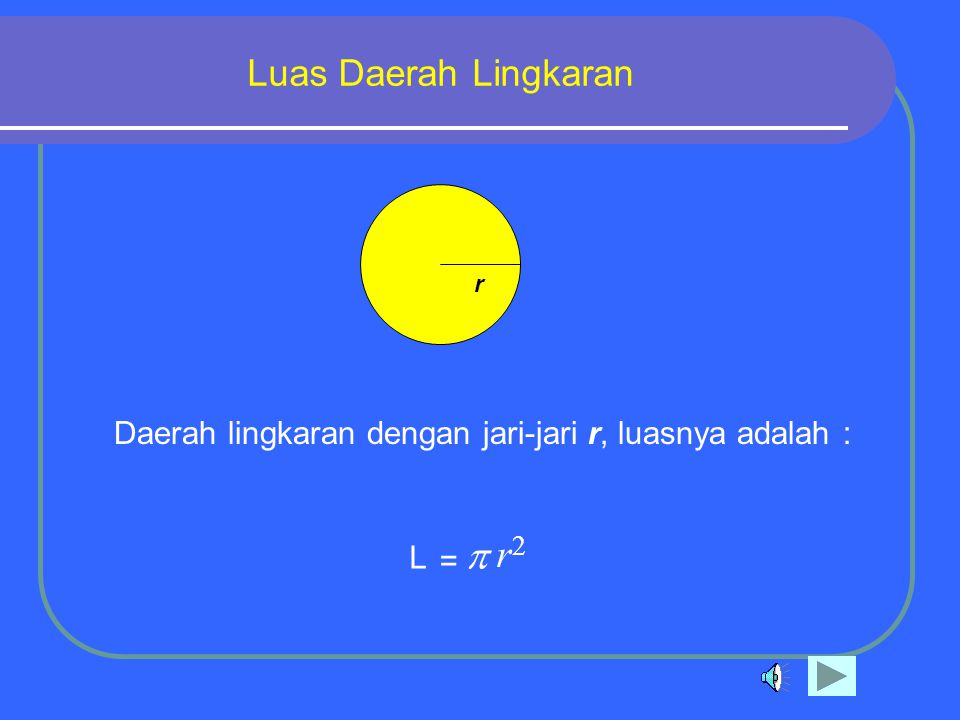 p r Luas Daerah Lingkaran