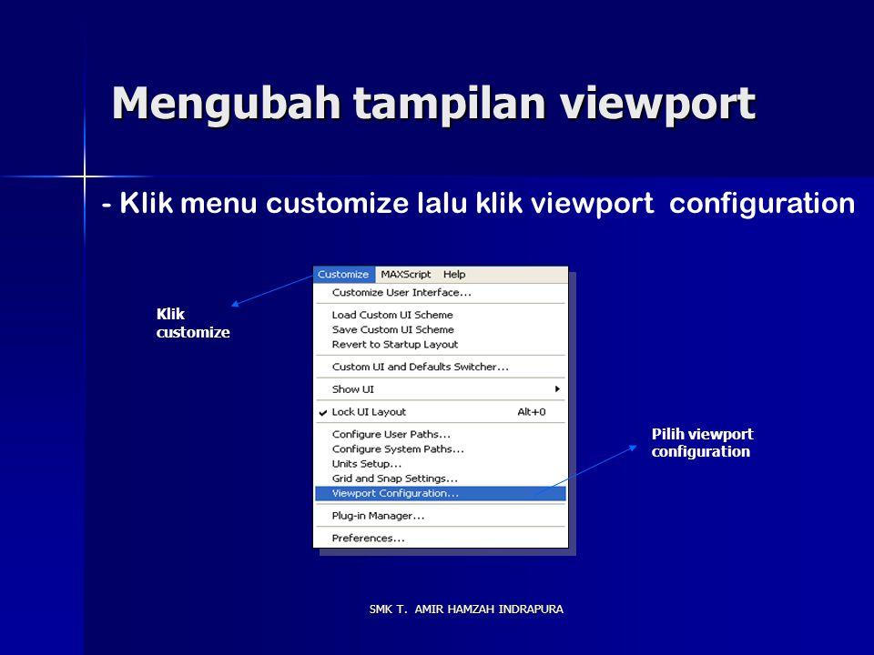 Mengubah tampilan viewport