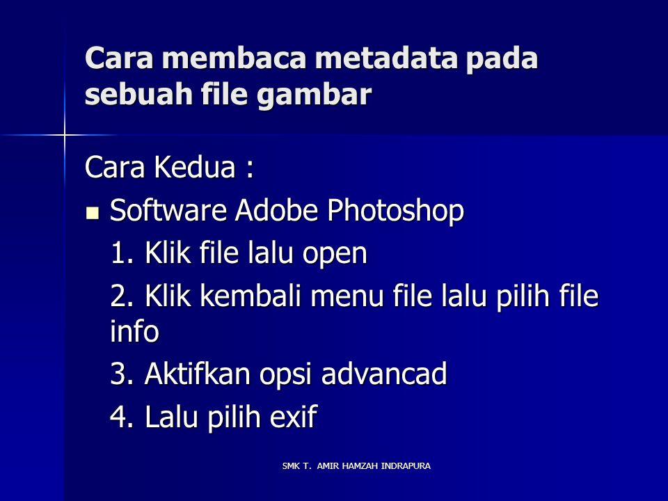 Cara membaca metadata pada sebuah file gambar