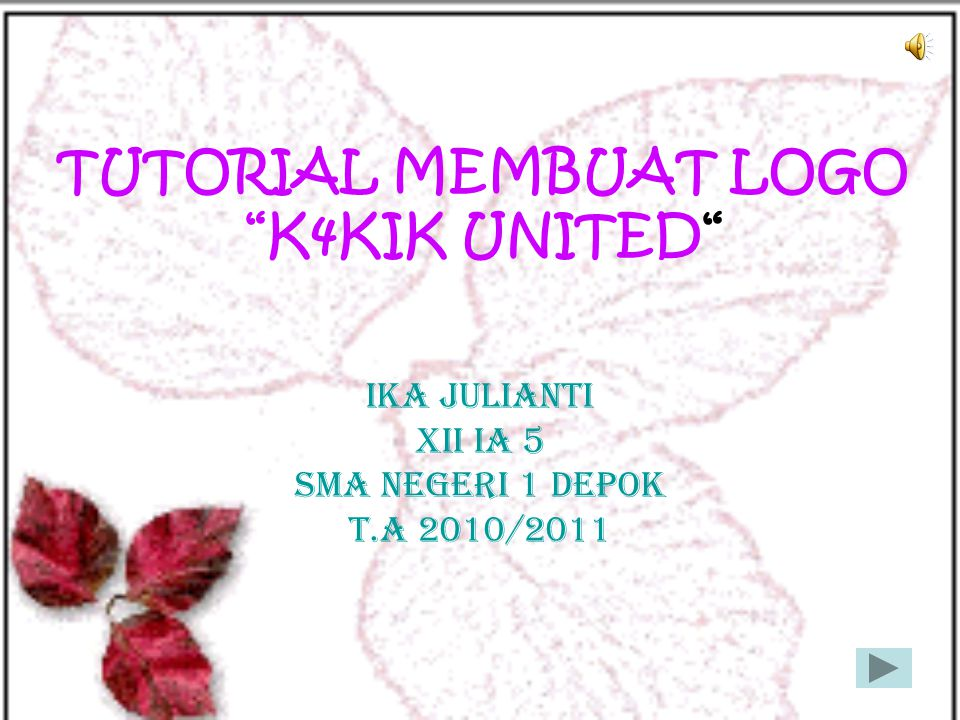 TUTORIAL MEMBUAT LOGO K4KIK UNITED
